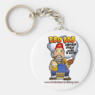 Don't lose your keys! BBQ Bob is here! Basic Round Button Key Ring