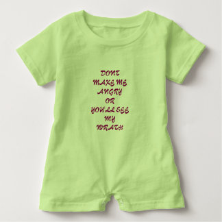 Dont make me angry baby bodysuit