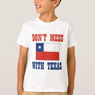 DON'T MESS TEXAS w/Chilean Flag T-Shirt