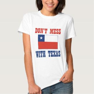 DON'T MESS TEXAS w/Chilean Flag T Shirts