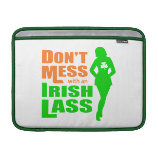 Don't Mess with an Irish Lass Funny MacBook Air Sleeves