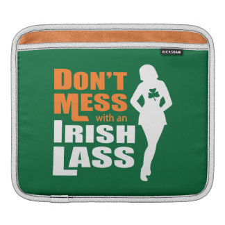 Don't Mess with an Irish Lass Funny iPad Sleeve