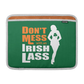 Don't Mess with an Irish Lass - Irish Humor MacBook Air Sleeve
