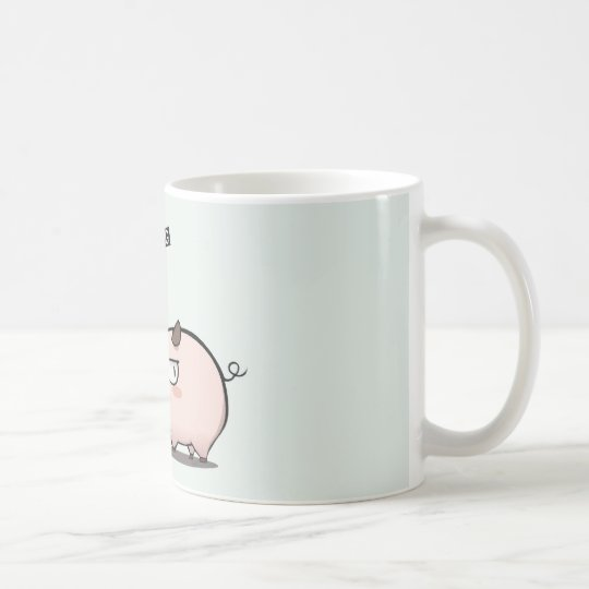 Don't mess with he pig coffee mug