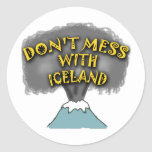 Don't Mess With Iceland T-shirts and Stuff Round Sticker