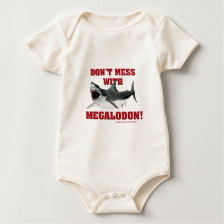 Don't Mess WIth Megalodon! Baby Bodysuit