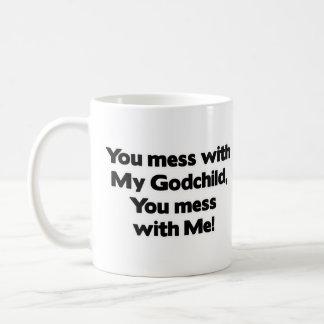 Don't Mess with My Godchild Basic White Mug