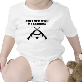 Don't Mess With My Grandma Baby Bodysuits