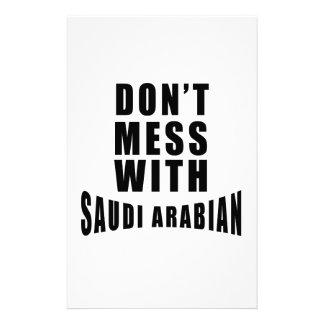 Don't Mess With SAUDI ARABIAN Stationery