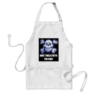 don't mess with the chef jolly roger standard apron