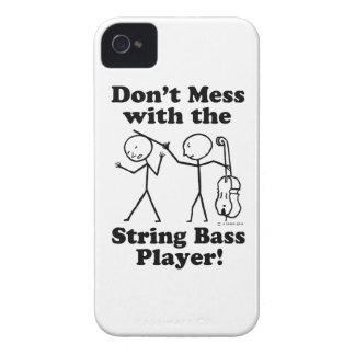 Don't Mess With The String Bass Player iPhone 4 Covers