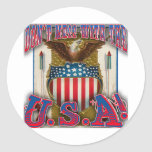 Don't Mess With the U.S.A! Round Sticker