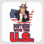 Don't Mess with the U.S. Stickers