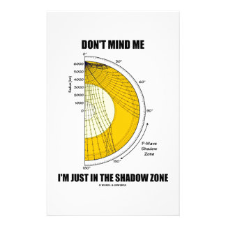 Don't Mind Me I'm Just In The Shadow Zone Stationery Paper