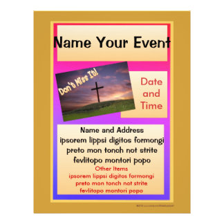 Don't Miss It Flyer for Special Events