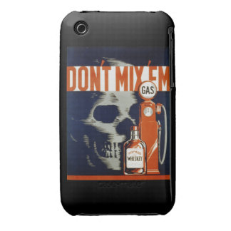 Don't Mix Em-Don't Drink and Drive e iPhone 3 Case