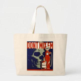 Don't Mix 'Em Jumbo Tote Bag