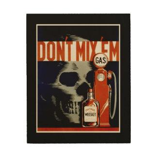 """Don't Mix Them"" vintage art wood canvas"