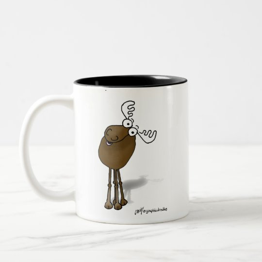 DON'T MOOSE WITH MY MUG!!! Two-Tone COFFEE MUG