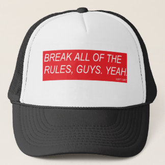 DONT OBEY DESIGN HAT