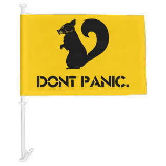Don't Panic Car Flag
