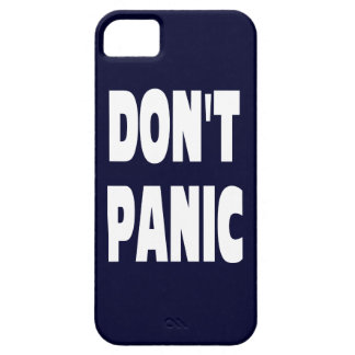 Don't Panic Dark Blue IPhone 5 Case