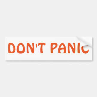 Don't Panic Hitchhiker's Guide to the Galaxy Bumper Sticker