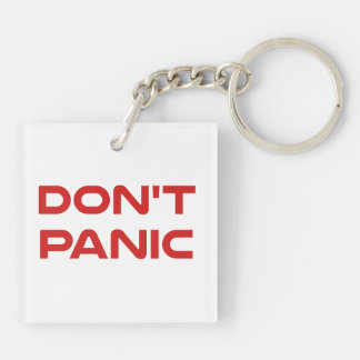 Don't Panic Square Acrylic Keychains