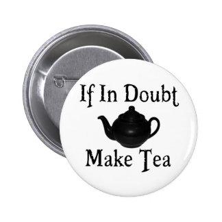 Don't panic - make tea! 6 cm round badge