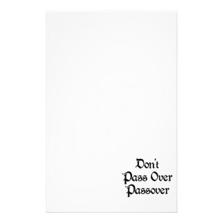 Don't Pass Over Passover Stationery Paper