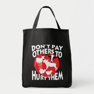 Don't pay others to hurt them grocery tote bag