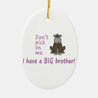 Don't Pick Little Sister Gorilla Ceramic Oval Decoration