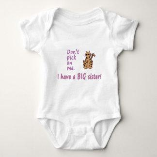 Don't Pick Little Sister Tigress Baby Bodysuit