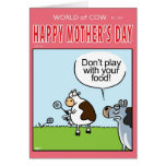 Don't Play with your FOOD! Greeting Card