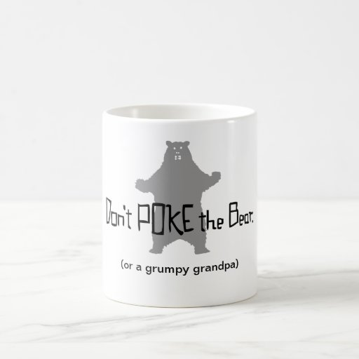 Don't Poke the BEAR Basic White Mug
