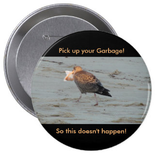 Don't Pollute on Beaches Button
