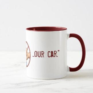 """Don't Punch Our Car"" Mug"
