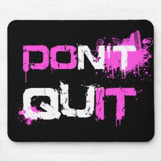 DON'T QUIT - DO IT paint splattered urban quote qu Mousepads