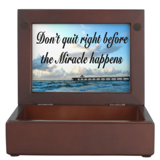 DON'T QUIT THERE ARE MIRACLES HAPPENING MEMORY BOXES