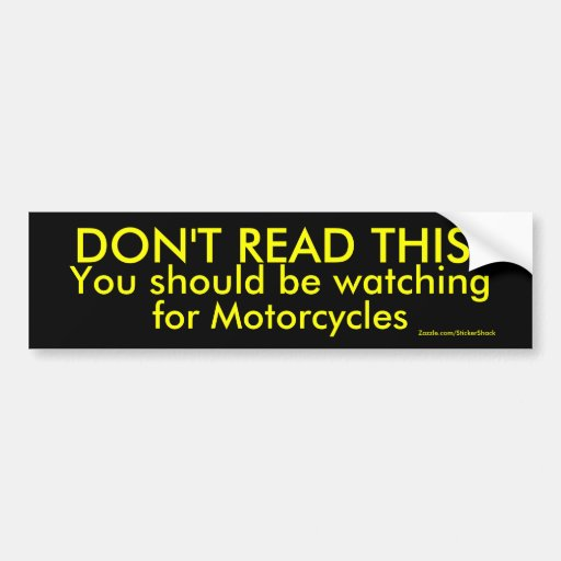 DON'T READ THIS! BUMPER STICKERS