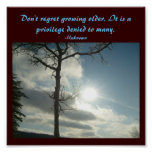 Don't regret growing older...Quote Poster