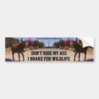 Don't Ride My Ass car bumper sticker