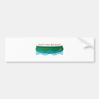 Dont Rock Boat Bumper Sticker