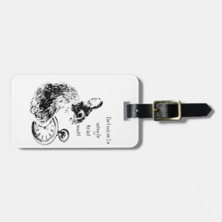 Don't Rush Me, Last Minute, Late Fun  Rabbit Luggage Tag