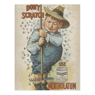 Don't Scratch Use Mentholatum Ephemera Postcard