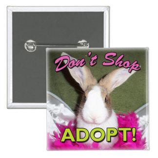 Don't Shop, Adopt! 15 Cm Square Badge