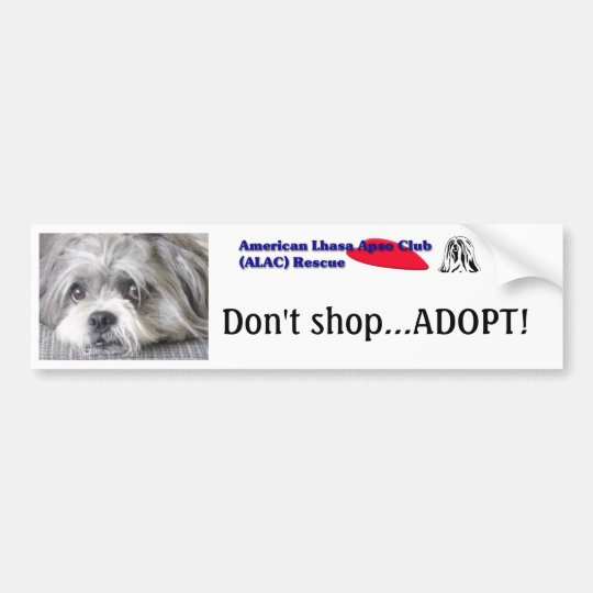 Don't shopAdopt! Bumper sticker