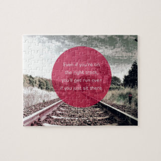 Don't sit in place | Motivational Quote Jigsaw Puzzle