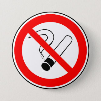 Don't smoke 7.5 cm round badge