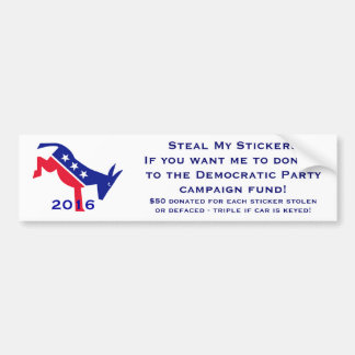 (Don't) Steal My Stickers Bumper Sticker